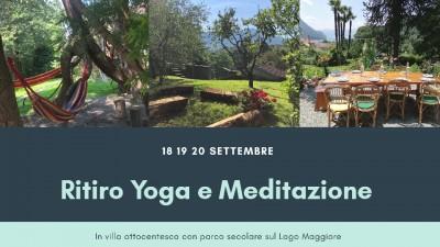 18-20 settembre 2020: Ritiro Yoga e Meditazione