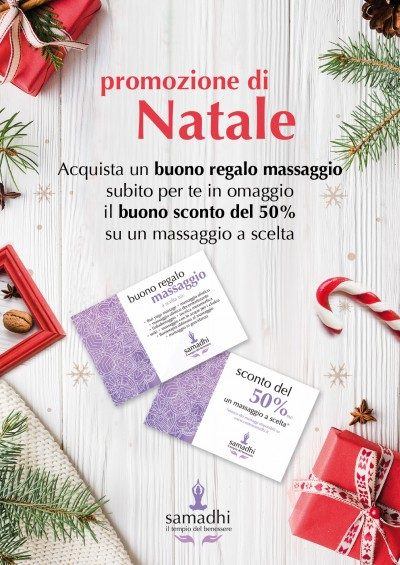 Per Natale regala un massaggio e ricevi il tuo buono!